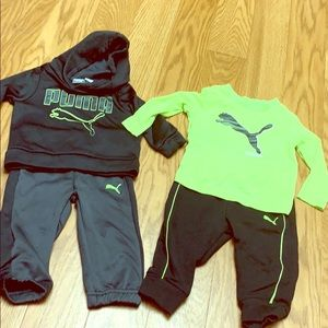Two infant Puma winter outfits